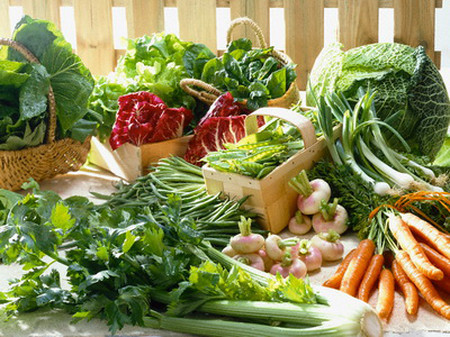 Selection of Early Vegetables --- Image by © photocuisine/Corbis